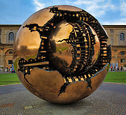 """""""Sphere Within Sphere"""" sculpture by Arnaldo Pomodoro at the Vatican museums (Italian: Musei Vaticani)"""