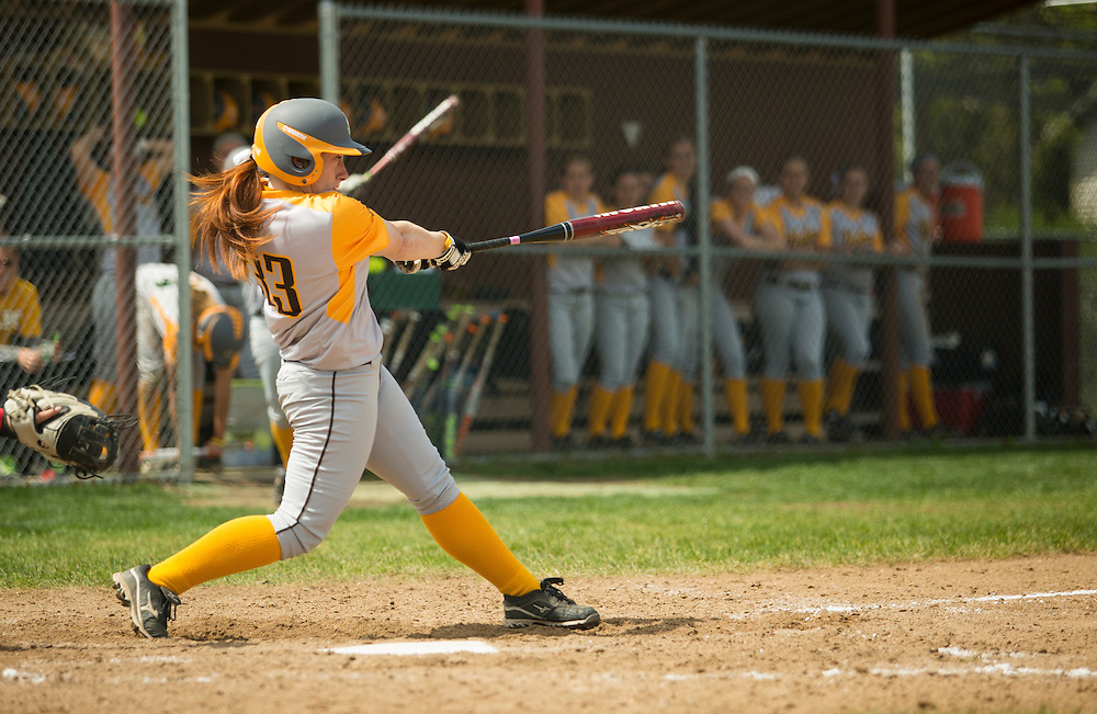 Tori Brown homers to left field in the sixth-inning versus Youngstown State in the first game of their double-header in Valparaiso, Saturday, May 4th.