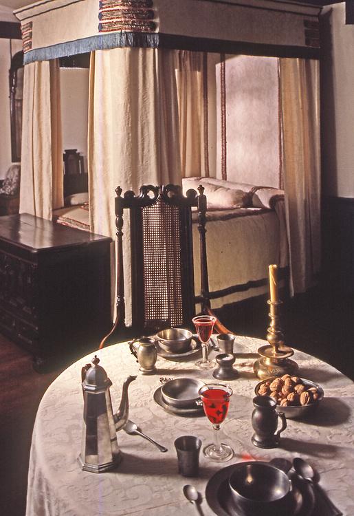 Dining, Pennsbury Manor, Delaware River, Philadelphia, Pennsylvania, Wm Penn Home, Interior