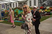 KRISTEN MCMENAMY; JERRY HALL; RUPERT MURDOCH, Press view of the 2016 RHS  Chelsea Flower Show,  London.