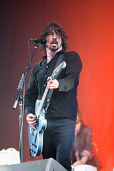 Dave Grohl with the Foo Fighters on the Main Stage..T in the Park on Sunday 10th July 2011. T in the Park 2011 music festival takes place from 7-10th July 2011 in Balado, Fife, Scotland..©Pic : Michael Schofield.