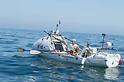 Wayne Robertson and Braam Malherbe, both from Cape Town, set off from Cape Town at 10h30 on Tuesday 7th Feb rowing to Rio to raise funds for the DOT Challenge.