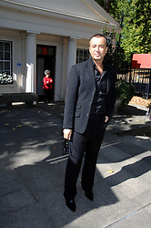 JULIEN MACDONALD at the memorial service of Isabella Blow held at the Guards Chapel, London W1 on 18th September 2007.<br />