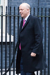 Downing Street, London, December 13th 2016. Transport Secretary Chris Grayling arrives at the weekly meeting of the cabinet at Downing Street, London.