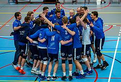 Team Sliedrecht Sport after the 3-0 win in the quarter cupfinal between Taurus vs. Sliedrecht Sport on April 02, 2021 in sports hall De Kruisboog, Houten