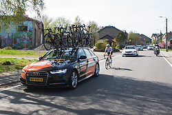 Marianne Vos (NED) of Waowdeals Pro Cycling Team tries to get back to the peloton during Liege-Bastogne-Liege - a 136 km road race, between Bastogne and Ans on April 22, 2018, in Wallonia, Belgium. (Photo by Balint Hamvas/Velofocus.com)