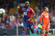 Christian Benteke of Crystal Palace in action. Premier League match, Crystal Palace v Stoke city at Selhurst Park in London on Sunday 18th Sept 2016. pic by John Patrick Fletcher, Andrew Orchard sports photography.