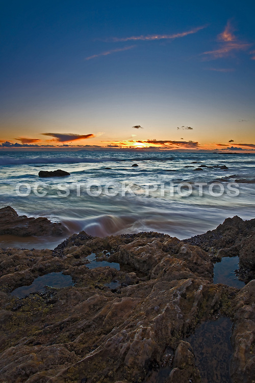 Rocky Coastline in Corona Del Mar of Newport Beach California