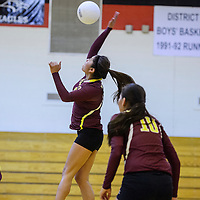 Tohatchi Cougar Cheyenne Begay (9) takes a shot at the Crownpoint Eagles Thursday at Crownpoint High School.