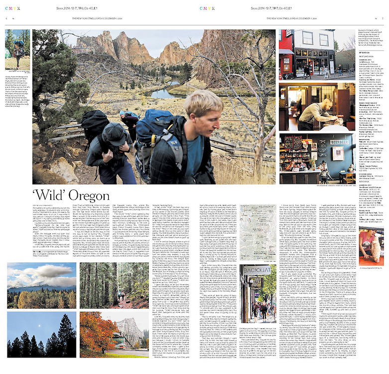 """The New York Times sent me around Oregon for a few days for a Sunday Travel centerpiece, about the adaptation of the book """"Wild"""" into a movie."""