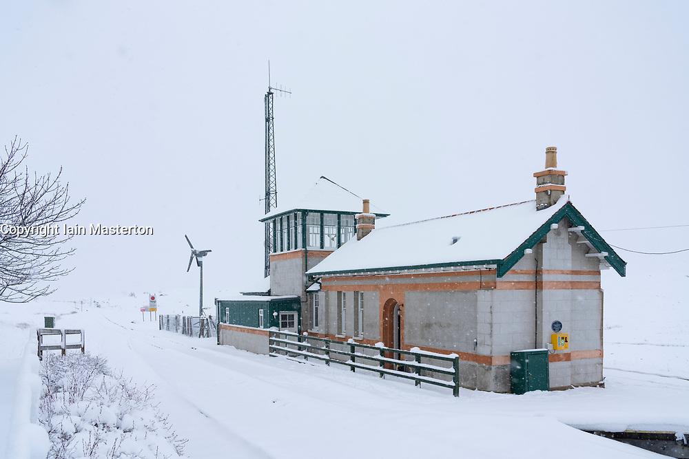 Signal Box Accomodation at Corrour Station , Highland, Scotland, UK