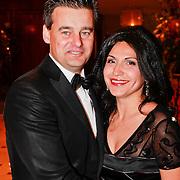 NLD/Noordwijk/20110326 - Inloop Spieren voor Spieren Gala 2011, Wilfred Genee en partner Lili Pirayesh