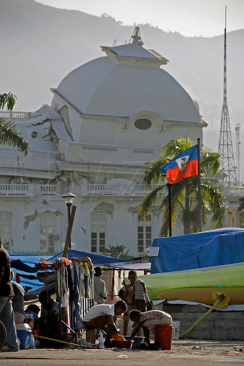 Earthquake aftermath in Haiti on Friday January 22, 2010...