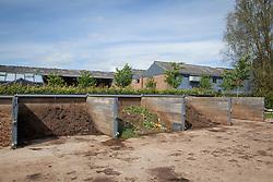 Compost bins at Holt Farm organic garden
