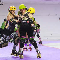 Cambridge Romsey Town Rollerbillies take on Newcastle's Whippin Hinnies at The Thunderdome, King Street, Oldham, in the Womens Tier 2 North British Championships 2017-02-18