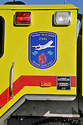 Israel, Ben-Gurion international Airport. The logo of the Emergence Response Team