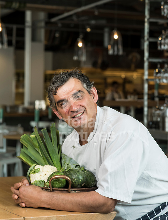 Bruno Loubet chef and owner of  Grain Store, Kings Cross.<br /> Picture by Daniel Hambury/Stella Pictures Ltd 07813022858<br /> 25/07/2017