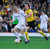 Photo: Leigh Quinnell.<br /> Watford v Hull City. Coca Cola Championship. 20/10/2007. Hulls Dean Marney gets away from Watfords  John-Joe O'Toole.