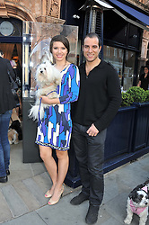 BARON & BELLA BLOOM and their dog Bublik at The Dog's Trust Awards announcement held at George, 87-88 Mount Street, London on 27th March 2012.
