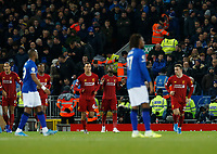 Football - 2019 / 2020 Premier League - Liverpool vs. Everton<br /> <br /> Divock Origi of Liverpool celebrates with team mates after putting Liverpool 1-0 ahead, at Anfield.<br /> <br /> COLORSPORT/ALAN MARTIN