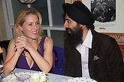 GILLIAN ANDERSON; WARIS AHLUWALIA;, Charles Finch and  Jay Jopling host dinner in celebration of Frieze Art Fair at the Birley Group's Harry's Bar. London. 10 October 2012.