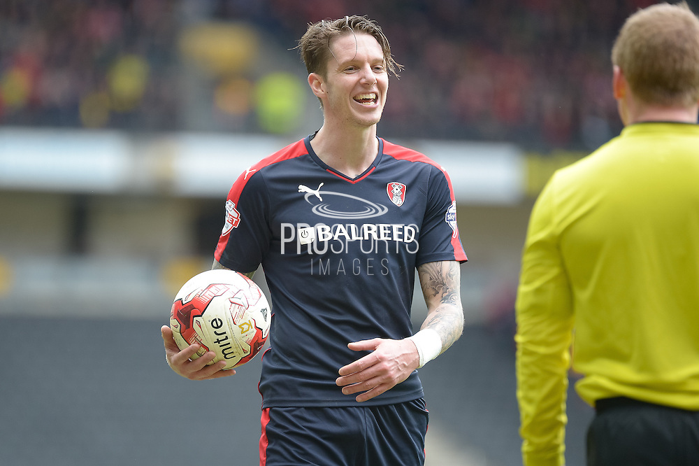 Rotherham Defender Greg Halford during the Sky Bet Championship match between Milton Keynes Dons and Rotherham United at stadium:mk, Milton Keynes, England on 9 April 2016. Photo by Dennis Goodwin.