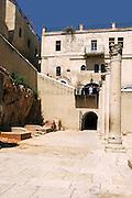 Jerusalem, Israel, The Jewish Quarter at the Old City. The Cardo, the main street of the Byzantine era Jerusalem, the road and stone pillars