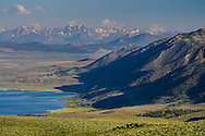 Mono Lake and the Mono Crest above Lee Vining from Conway Summit, Mono County, Eastern Sierra, California