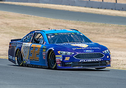 June 22, 2018 - Sonoma, CA, U.S. - SONOMA, CA - JUNE 22: Matt Dibenedetto, driving the #(32) Ford for GO FAS Racing accelerates out of turn 9  on Friday, June 22, 2018 at the Toyota/Save Mart 350 Practice day at Sonoma Raceway, Sonoma, CA (Photo by Douglas Stringer/Icon Sportswire) (Credit Image: © Douglas Stringer/Icon SMI via ZUMA Press)