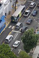 Traffic and public transportation on Metropolitan Area of San Juan.