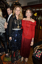 LONDON, ENGLAND 1 DECEMBER 2016: Lady Forte, Dorrit Moussaieff Left to right, at the Smythson & Brown's Hotel Christmas Party held at Brown's Hotel, Albemarle St, Mayfair, London, England. 1 December 2016.
