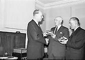 1963 - Presentations to staff at the Gramophone  Company Ltd.