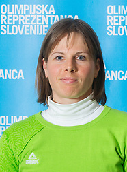 Vesna Fabjan poses for a portrait during presentation of Team Slovenia for Sochi 2014 Winter Olympic Games on January 22, 2014 in Grand Hotel Union, Ljubljana, Slovenia. Photo by Vid Ponikvar / Sportida