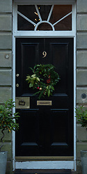 This COVID Christmas there are more Christmas wreaths than ever on the front doors of Portobello, Edinburgh.<br /> © Jon Davey/ EEm