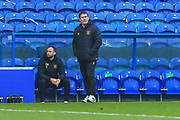 Mansfield Town manager Nigel Clough during the The FA Cup match between Mansfield Town and Dagenham and Redbridge at the One Call Stadium, Mansfield, England on 29 November 2020.