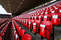 Bristol City and Bristol Sport put out over 12,000 scarves for fans ahead of the game  - Photo mandatory by-line: Joe Meredith/JMP - Mobile: 07966 386802 - 25/01/2015 - SPORT - Football - Bristol - Ashton Gate - Bristol City v West Ham United - FA Cup Fourth Round