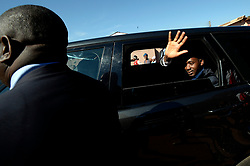 30/07/2018: Zimbabwe, Harare. MDC alliance president Nelson Chamisa waves to the crowd as his motorcade leaves the polling station after casting his vote. <br /> Chamisa was voting at Kuwadzana 2 in Harare, Zimbabwe where thousands of voters were queuing to also cast their vote.437<br /> Picture: Matthews Baloyi/African News Agency (ANA)