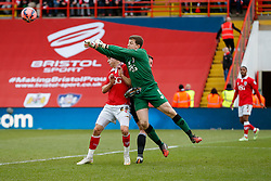 Frank Fielding of Bristol City punches clear - Photo mandatory by-line: Rogan Thomson/JMP - 07966 386802 - 25/01/2015 - SPORT - FOOTBALL - Bristol, England - Ashton Gate Stadium - Bristol City v West Ham United - FA Cup Fourth Round Proper.