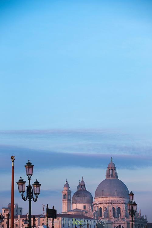Santa Maria della Salute, as seen from St Marks Square.Venice, Italy, Europe