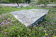 Stecci, a distinctive type of Medieval tombstones found in Bosnia & Herzegovina, at Boljuni necropolis, near Stolac, Bosnia & Hercegovina. © Rudolf Abraham