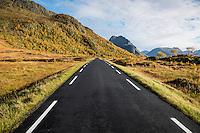 Looking east down route 815, Vestvågøya, Lofoten Islands, Norway