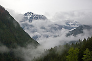 A storm clears from Mount McConnell in Manning Provincial Park.