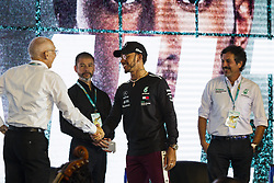 November 7, 2018 - SãO Paulo, Brazil - SÃO PAULO, SP - 07.11.2018: COLETIVA DE IMPRENSA LEWIS HAMILTON - British rider Lewis Hamilton, the current five-time F1 world champion, holds a press conference this Wednesday (07) promoted by Petronas, the oil company that sponsors his current team, Mercedes. The Englishman will participate in the F1 Brazil Grand Prix, which takes place this weekend in Interlagos. (Credit Image: © Emerson Santos/Fotoarena via ZUMA Press)