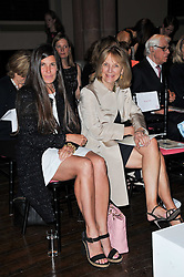 Left to right, ELIZABETH SALTZMAN and ANNA HARVEY at a fashion show by Catherine Walker & Co in support of The Haven held at One Mayfair, North Audley Street, London on 18th May 2011.