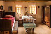 Mill keepers room at Vodenica water mill, Korana Village, Plitvice Lakes National Park, Croatia