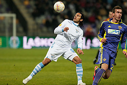 Sergio Floccari #99 of S.S. Lazio and Nejc Potokar #22 of Maribor during football match between NK Maribor and S. S. Lazio Roma  (ITA) in 6th Round of Group Stage of UEFA Europa league 2013, on December 6, 2012 in Stadium Ljudski vrt, Maribor, Slovenia. (Photo By Gregor Krajncic / Sportida)