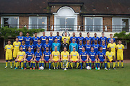 AFC Wimbledon First Team Squad at the AFC Wimbledon Team Photo 02AUG16 at the Cherry Red Records Stadium, Kingston, England on 2 August 2016. Photo by Stuart Butcher.