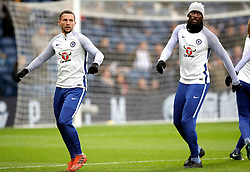 Chelsea's Danny Drinkwater (left) warms up prior to during the Premier League match at The Hawthorns, West Bromwich.