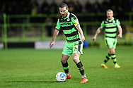 Forest Green Rovers Liam Noble(15) on the ball during the Vanarama National League match between Forest Green Rovers and Solihull Moors at the New Lawn, Forest Green, United Kingdom on 21 March 2017. Photo by Shane Healey.