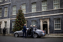 © Licensed to London News Pictures. 09/12/2020. London, UK. Prime Minister Boris Johnson returns to Downing Street after attending parliament for Prime Minister's Questions.  The Prime Minister will travel to Brussels for a face-to-face meeting with President of the European Commission Ursula con der Leyen in a final attempt to find agreement on a possible Brexit deal. Photo credit: Rob Pinney/LNP